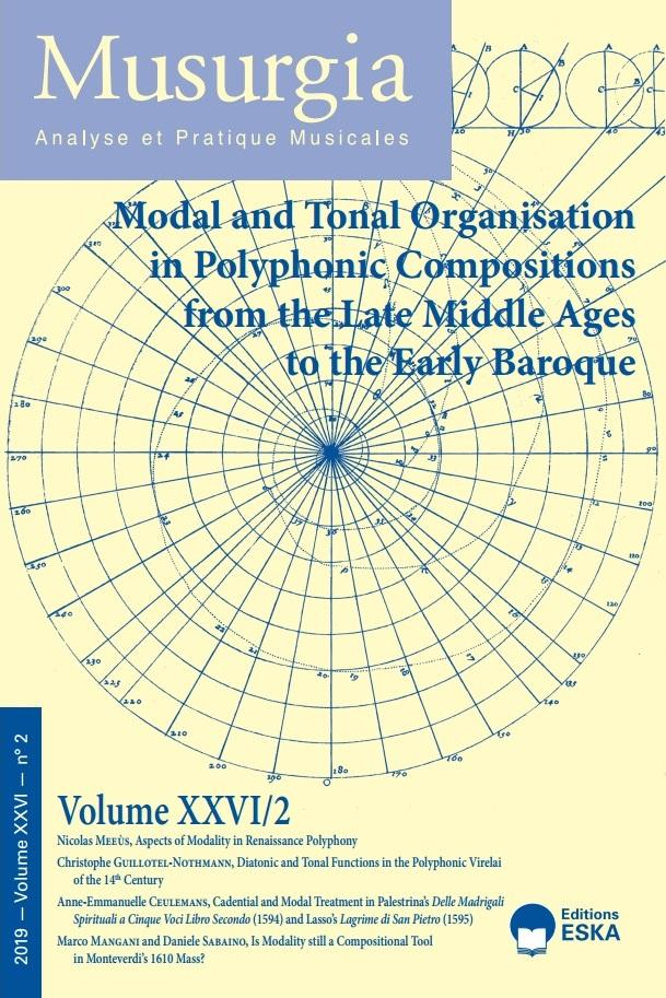 Read more about the article Musurgia XXVI/2 – Modal and Tonal Organisation in Polyphoic Compositions from the Late Middle Ages to the Early Baroque