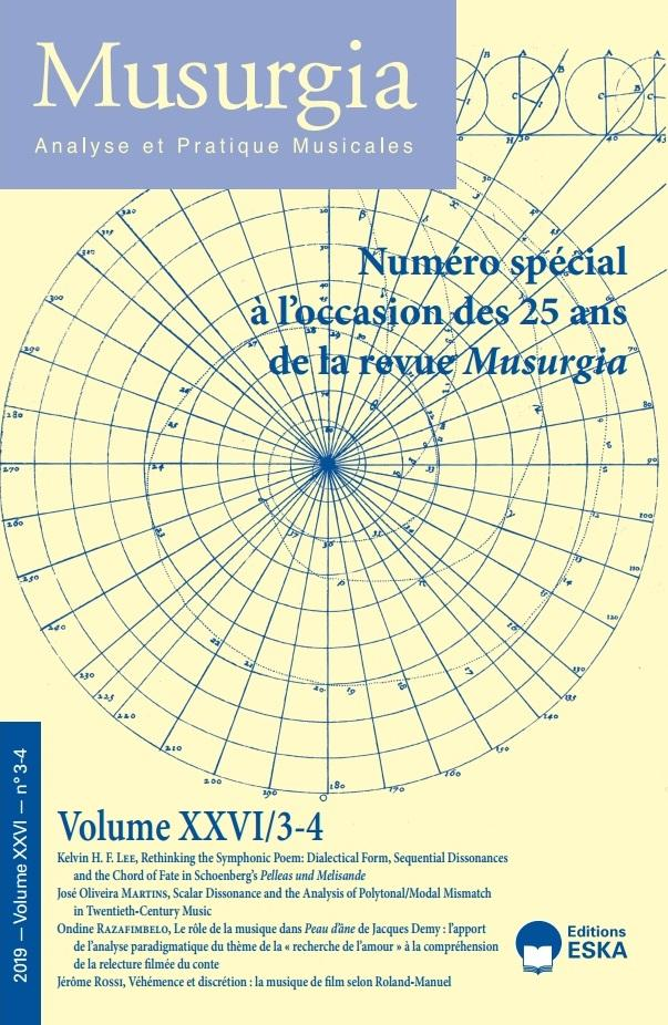 You are currently viewing Musurgia XXVI/3-4 – Concours à l'occasion des 25 ans de la revue Musurgia : articles primés